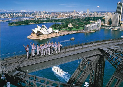 7. SYDNEY HARBOUR BRIDGE CLIMB. The climb takes over three hours and it's a hairy thrill, with cars and people below ...