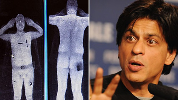 Exposed ... Shahrukh Khan says he signed his X-ray scan, just like this image taken from a computer screen at Manchester ...