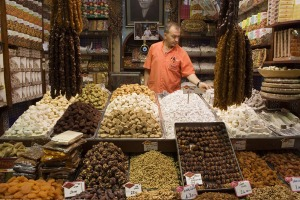 Turkish delights ... a market stall.