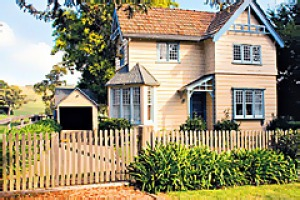 Quaint restraint ... Highfield Cottage was the gatekeeper's lodge to a homestead built in 1901.
