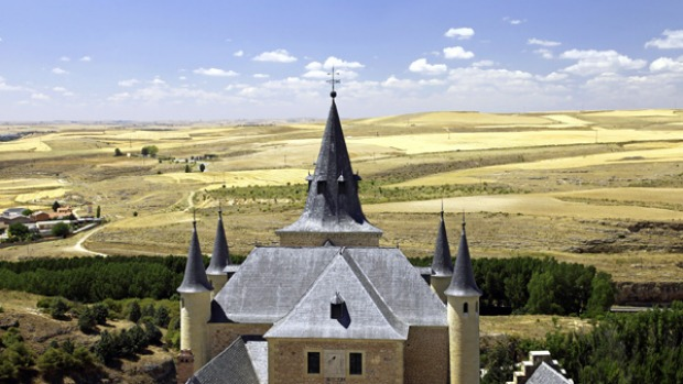 Old world ... the Alcazar de Segovia's East Tower offers a sweeping view of the landscape.