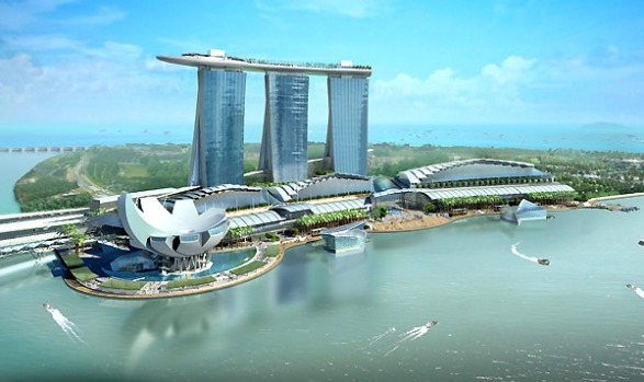 Rising ambitions ... an artist's impression of Marina Bay Sands.