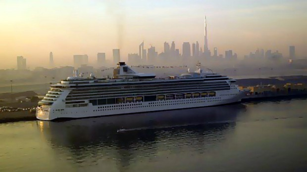 A new home ... Brilliance of the Seas in Dubai.