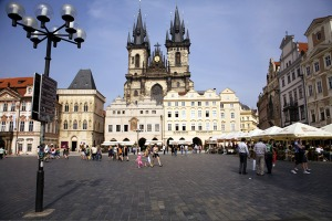 Bohemian rhapsody ... Old Town Square is one of Prague's fairytale sights.