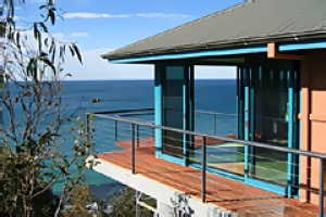 High and mighty ... deck-house guests can see, hear and smell the ocean.