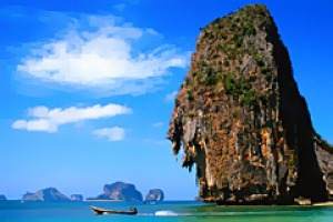 Emerald escape ... the cliffs of Ko Rang Nok (Bird Nest Island).