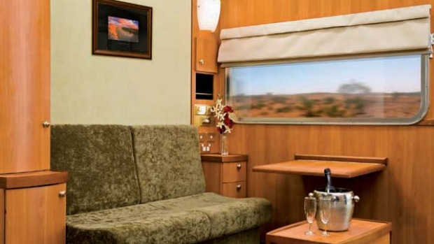 Line of luxury ... a Platinum compartment on the Southern Spirit.