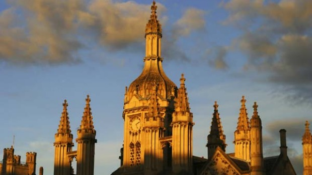 A study in beauty ... King's College at sunset.