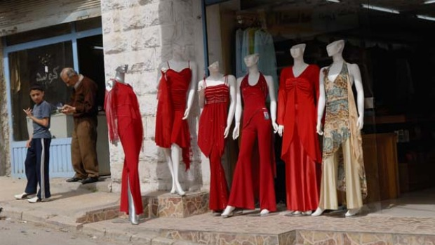 The latest fashions in Madaba.