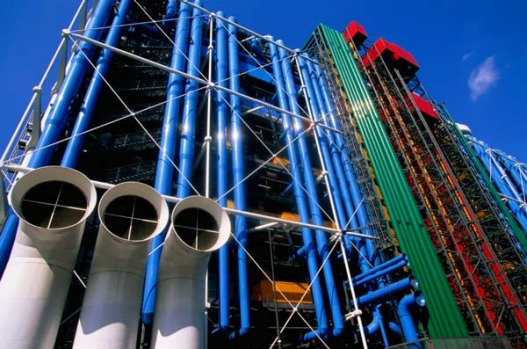 The Pompidou Centre, Paris, France. Built in 1977, the Pompidou Centre still has the power to shock when you see it for ...