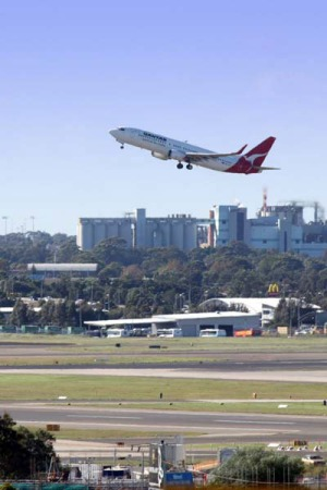 Poor rating . . . Sydney ranks last of the five major airports.