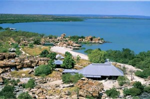 Rugged canvas ... Kimberley Coastal Camp sits on the shores of Admiralty Gulf.