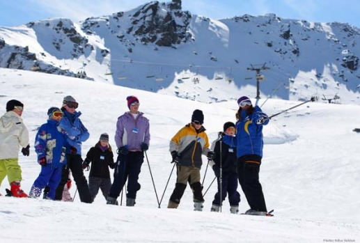 Fast times at moutain high ... learning to ski at the Remarkables, Queenstown.