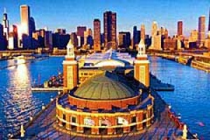 Wow factor ... Navy Pier and the city's soaring skyline.