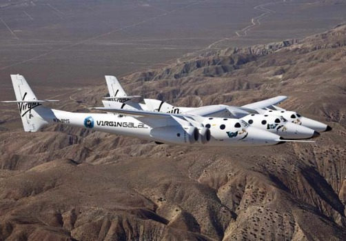 In the future, the spaceship will be launched from the larger aircraft, fire its rocket and carry passengers on a ...