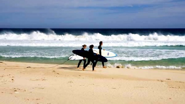 Rich pickings ... King Island's surf is rated highly.