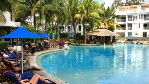 Blue haven ... guests enjoy the facilities at Peppers Resort and Spa at Palm Cove.