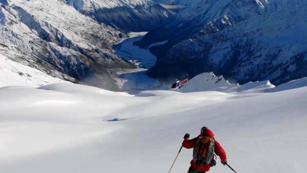 To the limit ... heli-skiing with Harris Mountains Heliski.