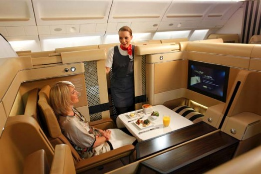 Better than being at home ... Etihad Airways' first class.