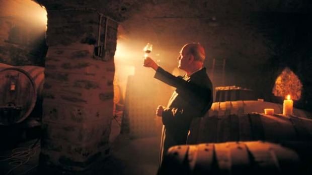 Holy water ... Jesuit priests have tended the vineyards and made wine at Sevenhill for the past 150 years.