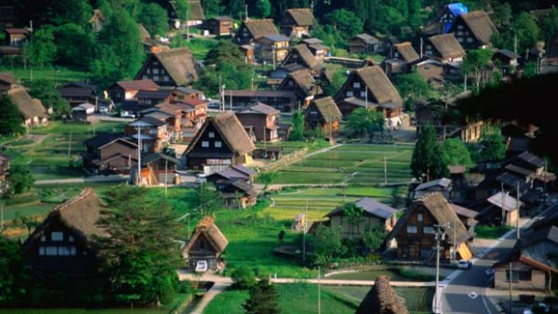 Older and colder ... Shirakawa-go village.