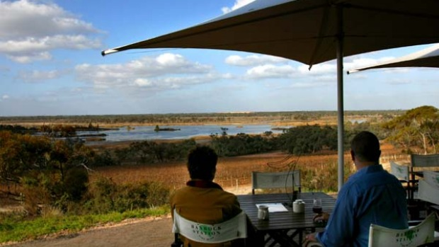 Banrock Station's restaurant overlooks wetlands.
