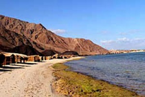 Simple shelter ... Sawa Camp's huts are as close to the Red Sea as possible without getting wet.