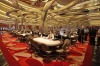 Dealers man tables at the casino of the Marina Bay Sands.