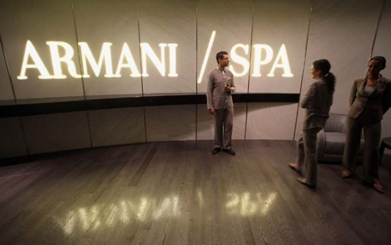"""In addition to fine restaurants, the hotel also has a spa, but this is restricted to 300 """"Armani-style"""" members only."""