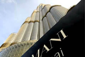 A view of the world's first Armani Hotel in the Burj Khalifa, the world's tallest building, in Dubai.