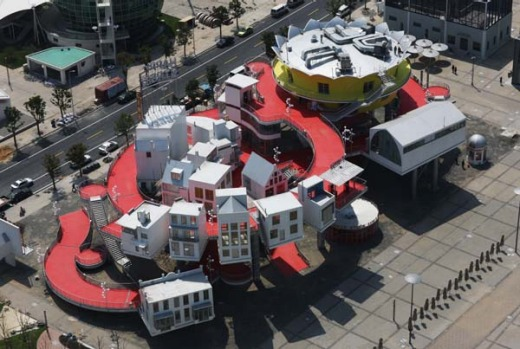 The Netherlands Pavilion at the World Expo site in Shanghai.