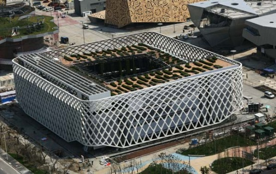 The French Pavilion at the Shanghai World Expo.