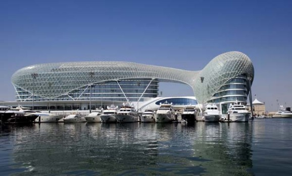 The eye-catching Yas hotel opened on the shores of Abu Dhabi city last October as a flagship for the emirate's brisk ...