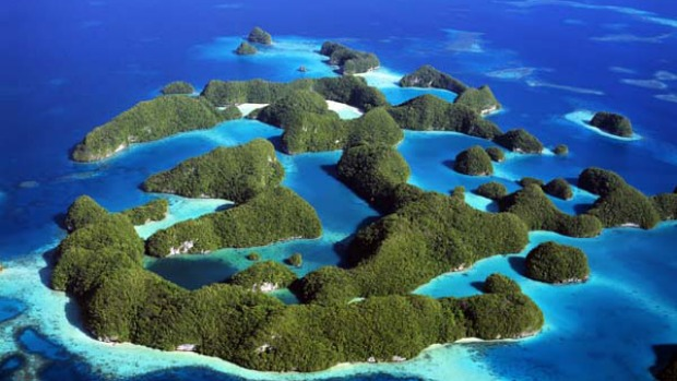 Eden ... the Republic of Palau is a series of more than 250 limestone islands virtually untouched by tourists.