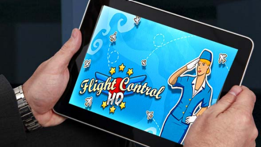 Flight Control on an iPad ... but will this game be included in Jetstar's offerings?