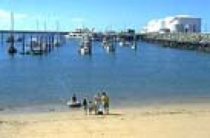 Holidaymakers at Mackay Harbour