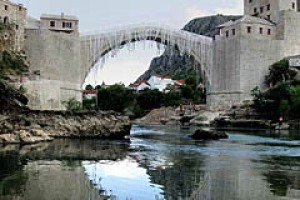 Enduring traditions ... Mostar's famous bridge.