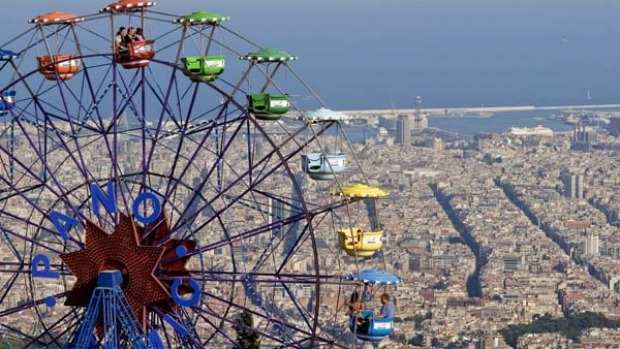 Rickety ride ... Tibidabo Ferris wheel, Barcelona.