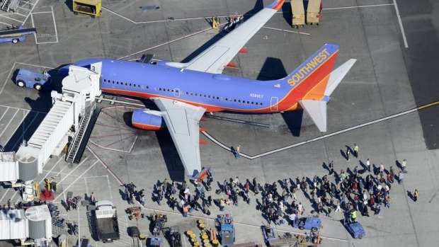 'It was pretty scary' ... The Southwest Airlines flight was heading to Los Angeles before being diverted to Omaha, ...
