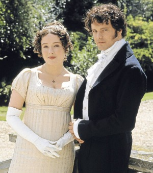 Colin Firth and Jennifer Ehle in <i>Pride and Prejudice</i>.