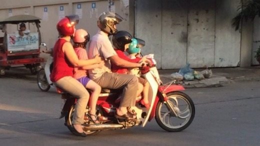 People mover: The family wagon in Phnom Penh
