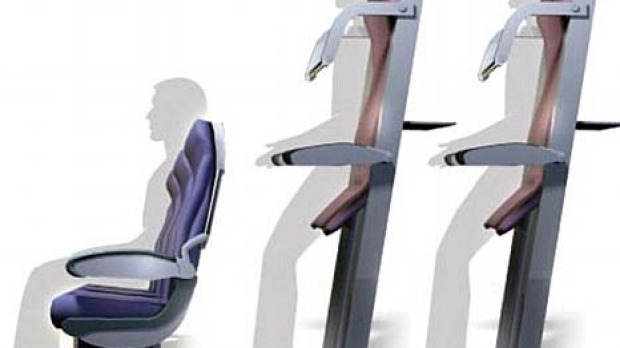 A graphic of Ryanair's proposed 'vertical seating'.