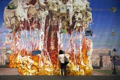 """Capitol Viscera Applicances mural"" (2011) by US artist Jim Shaw, represented by the galleries Blum and Poe (Los ..."
