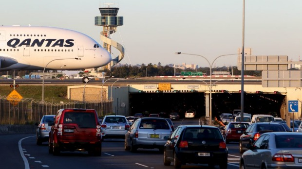 Gridlock: The NSW government has released a draft plan to tackle congestion at Sydney Airport.