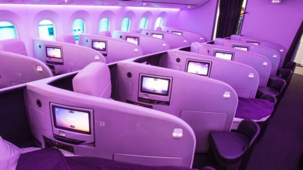 Air New Zealand's Boeing 787 Dreamliner business class.