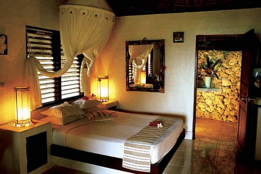 One of the rooms at Breakas Beach Resort.