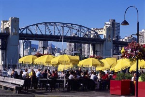 Dining on Granville Island, Vancouver.