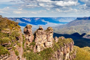 The Blue Mountains and the Three Sisters.